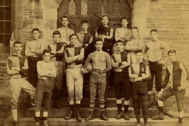 The rugby team of 1888-89 at Christ College Brecon